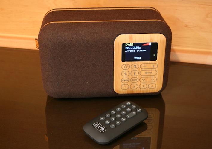 tischradio mit fm dab und bluetooth das eva scr400d. Black Bedroom Furniture Sets. Home Design Ideas