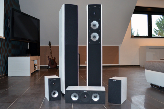 test jamo s 626 surround set starker sound aus d nemark. Black Bedroom Furniture Sets. Home Design Ideas