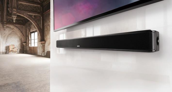 Kino sound f r flachbildfernseher mit denons tv - Flachbildfernseher wandmontage ...