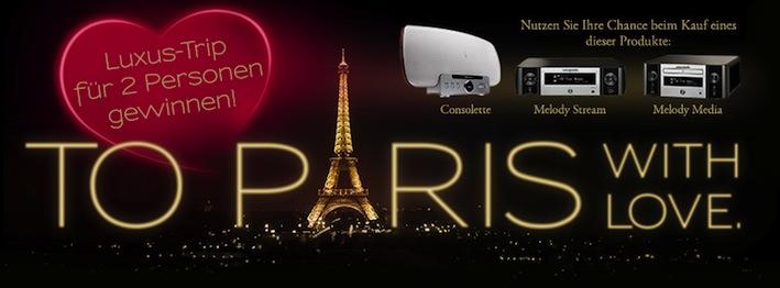 Romantischer Luxus Für Musikliebhaber: Marantz Startet Aktion Zum  Valentinstag U201eTo Paris With Loveu201d