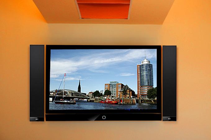 test kef v300 tv soundsystem top klang und ultraschlank. Black Bedroom Furniture Sets. Home Design Ideas