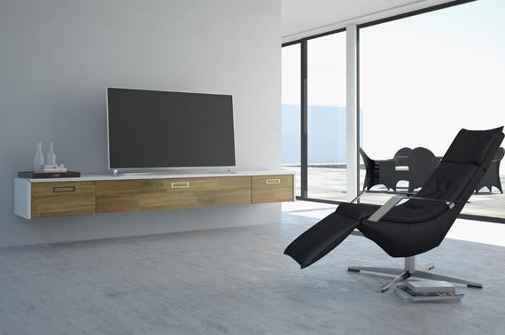 schwebende eleganz media m bel einfach an die wand geh ngt lite das lifestyle technik magazin. Black Bedroom Furniture Sets. Home Design Ideas