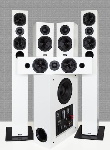 L14, M14, C14, SW14: ASWs neue Opus 14-Linie in Surround-Kombination.