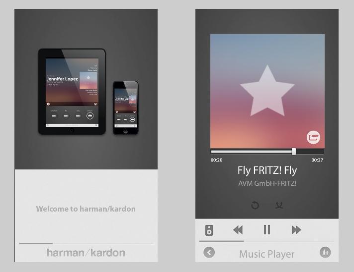 Die übersichtlich strukturierte Harman Kardon Remote App bietet die Steuerung über iOS-und Android-Plattformen als Teil des Harman Kardon-Ökosystems.