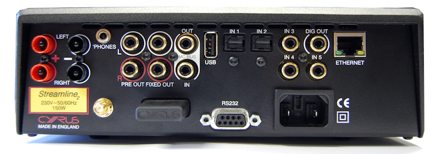 Alles, was der HiFi-Fan benötigt: Der Streamline 2 ist sowohl mit analogen wie digitalen Eingängen ausgestattet. Ein Ethernet-Anschluss, ein USB-Port sowie ein kabelloser Funkempfänger runden das gelungene Paket ab.