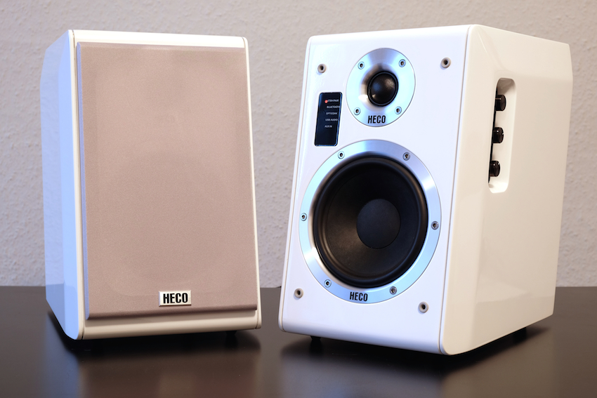 Heco Ascada 2.0: Vollaktives Desktop-System mit Bluetooth für unzählige Anwendungsmöglichkeiten.