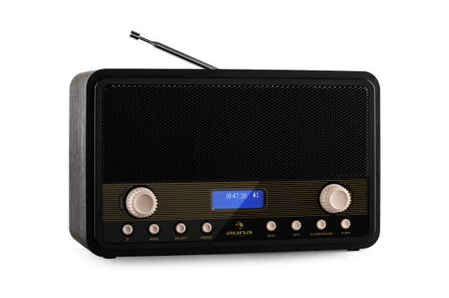 Das Auna Digidab Retro Digitalradio besticht durch die Kombination aus dem Retro-Design im Stil der 50er Jahre und moderner Technologie.