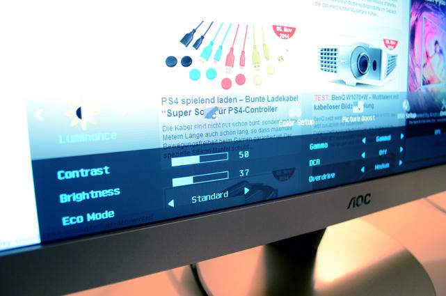 Dank eines umfangreichen Menüs lässt sich das AOC-Display bis ins Detail an die eigenen Bedürfnisse anpassen.