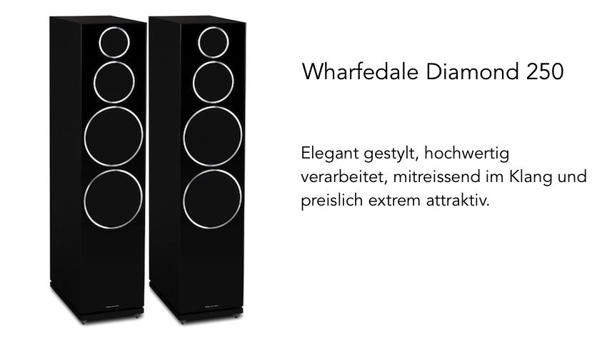 In schwarzer Ausführung gibt sich die Diamond 250 eher unnahbar. Die glänzenden Silberringe verleihen ihr einen edlen Touch.