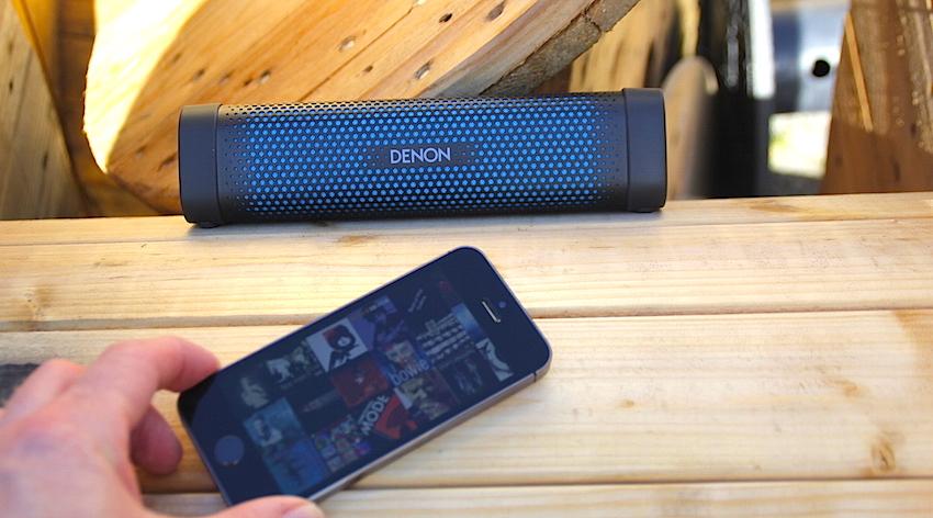 Der Denon empfängt Bluetooth-Signale von Quellen aus Entfernungen von bis zu 10 Metern.