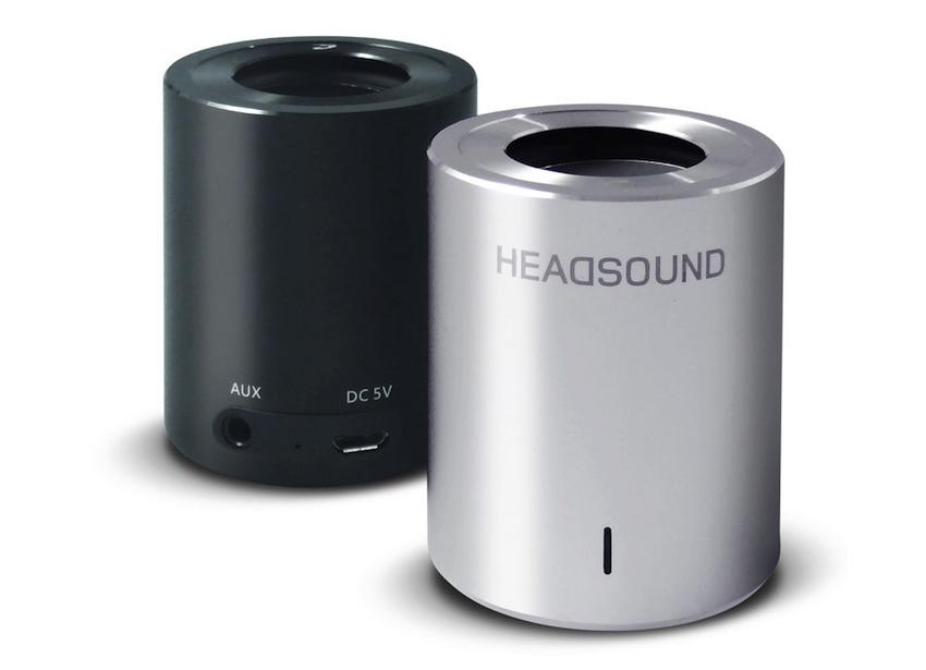 Der Headsound Tube ist wahlweise in schwarzer oder silberfarbener Ausführung erhältlich.