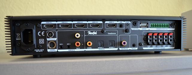 Dank zahlreicher Anschlüsse bildet die CoreStation als AV-Receiver das Herzstück des 5.1-Sets.