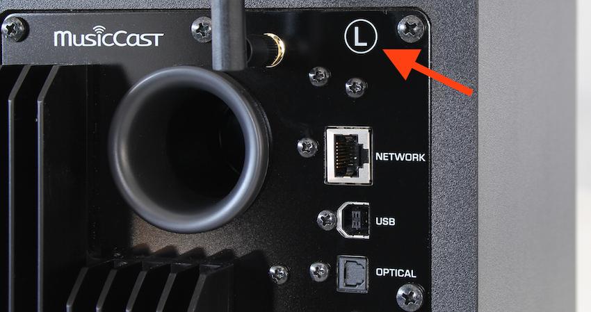 Achtung: Jede NX-N500 ist mit Rechts oder links gekennzeichnet und sollte auch so aufgestellt werden.