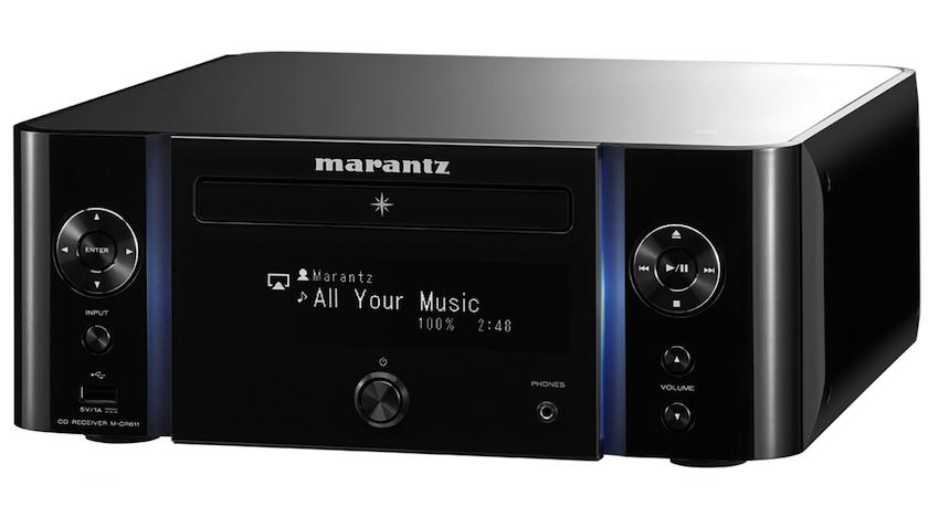 Alternativ ist die Marantz M-CR611 auch in komplett schwarzer Ausführung zu haben.