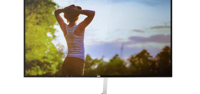 """AOC: Großer QHD-Monitor mit """"vierseitig-rahmenlosem"""" Design"""