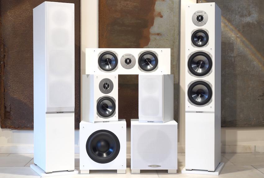 Das uns zum Test überlassene 5.2-Surroundset ist wahlweise in weißer oder schwarzer Ausführung erhältlich.