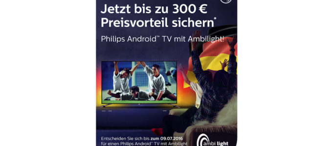 bis zu 300 euro sparen mit dem philips tv fu ball preisvorteil lite das lifestyle technik. Black Bedroom Furniture Sets. Home Design Ideas