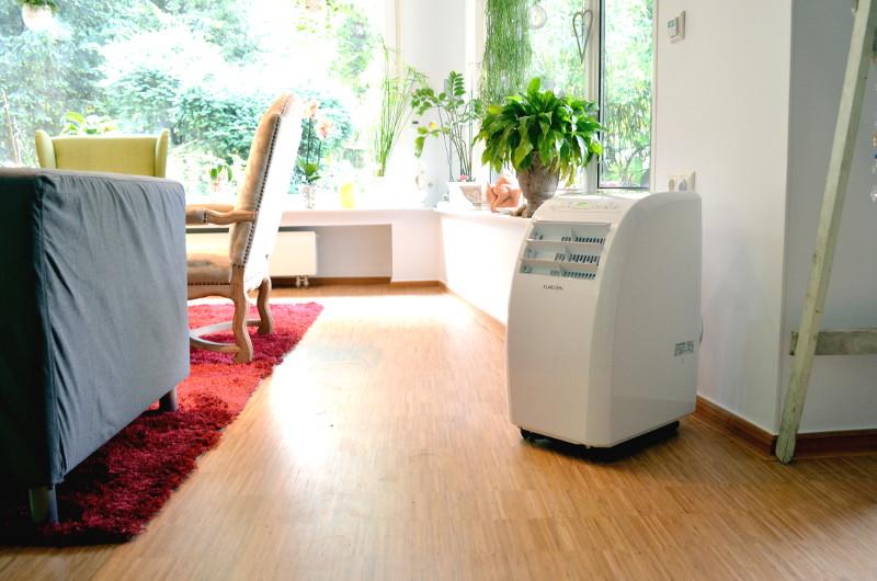 Die mobile Klimaanlage Metrobreeze Rom ist für Räume bis 30 m² und 2,5 m Deckenhöhe geeignet.