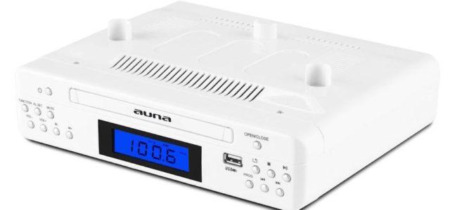 auna KR 150-WH: elegantes Unterbauradio für kurzweilige Küchenmomente