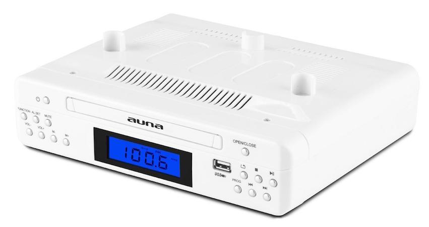 In dem schlicht in Weiß gehaltenen Gerät ist trotz der schlanken Maße nicht nur ein UKW-PLL- Empfänger mit 20 Senderspeicherplätzen verbaut, sondern dazu frontseitig ein CD-Player, der neben normalen Compact Discs auch MP3-CDs abspielt.