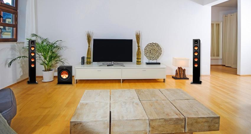 Keine Lautsprecherburg, keine lästigen Kabel - so kann ein vollwertiges Heimkino- und HiFi-Setup ausschauen: Das Klitsch HD Wireless 2.1Towers-System.