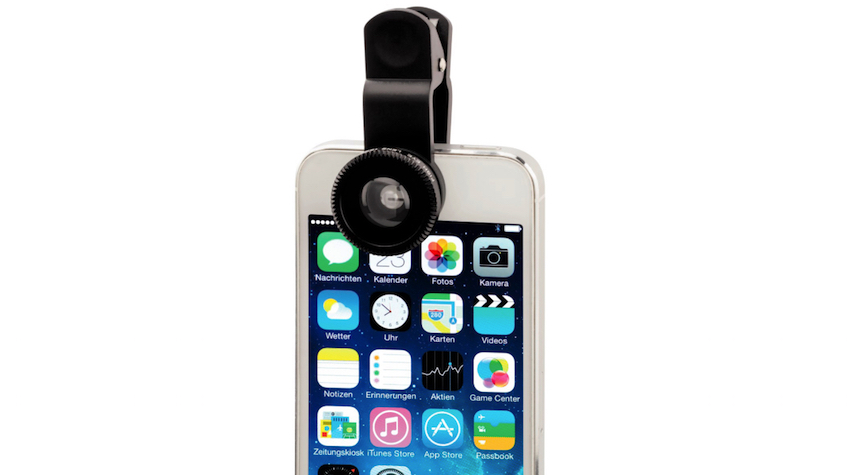 """3in1-Objektiv-Set """"Uni"""" für Smartphones und Tablets von Hama"""
