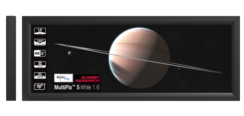 Screen Research MultiPix 5 White 1,6 Projektionstuch mit ISF ...