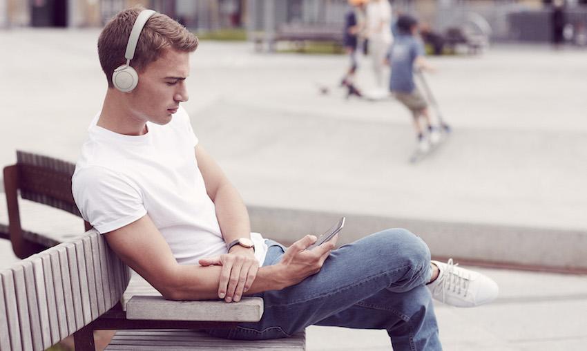 Q Adapt On-Ear: Elegante Bluetooth-Kopfhörer mit aktiver Geräuschunterdrückung und komfortabler Touch-Bedienung im minimalistischen Design