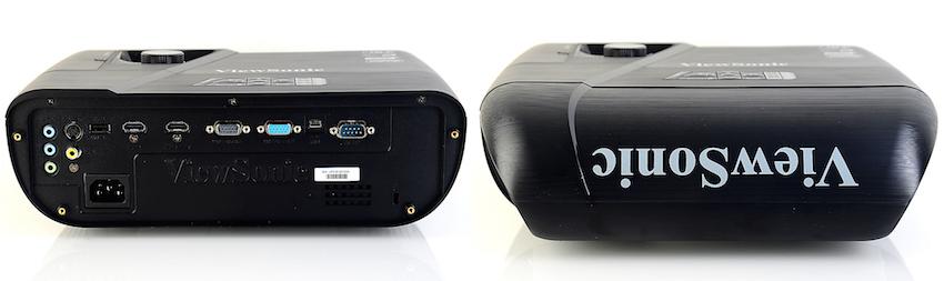 Auf der Rückseite des Pro7827HD befinden sich diverse Anschlüsse (Bild links). Sogar ältere Videorekorder mit S-VHS-Schnittstelle lassen sich verbinden, ebenso wie ein PC und ein USB-Stick für Firmware-Updates. Einer der zwei HDMI-Anschlüsse hier unterstützt MHL. Um Kabel bei einer Deckeninstallation aus dem Blickfeld verschwinden zu lassen, werden diese versteckt unter der dafür vorgesehenen Blende geführt. Eine saubere Lösung! Foto: Michael B. Rehders