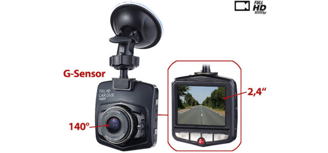NavGear HD-Dashcam MDV-2360 mit G-Sensor & Bewegungserkennung