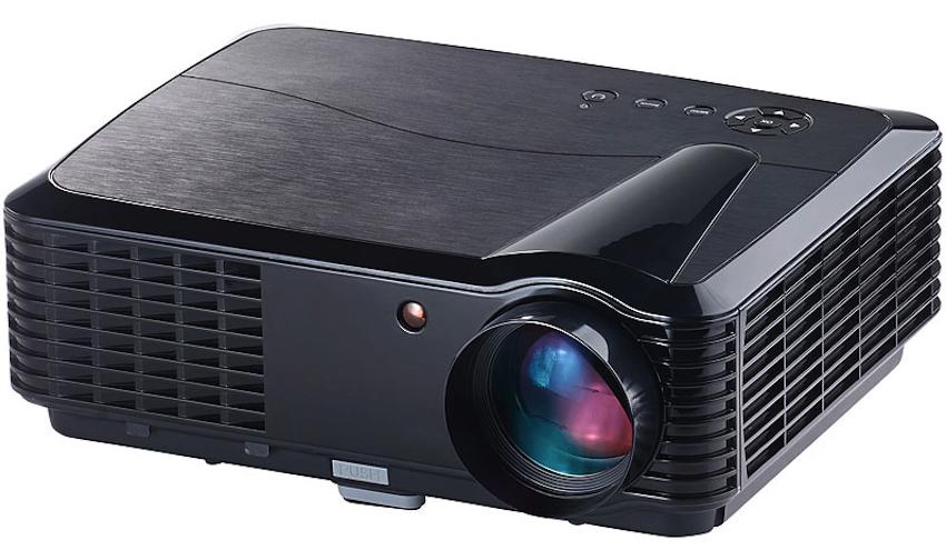 SceneLights LED-LCD-Beamer LB-9300 V2 mit Media-Player, 1.280 x 800, 2.800 lm Starke Kontraste, scharfes Bild: Anschlüsse für PC, Spielekonsole u.v.m.