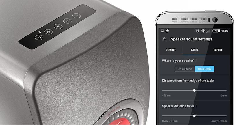 Über das berührungsempfindliche Bedienend bzw. die Fernbedienung ist die komplette Kontrolle der LS50 Wireless möglich. Eine App für iOS- oder Android-Geräte erlaubt die detaillierte Sound-Anpassung.