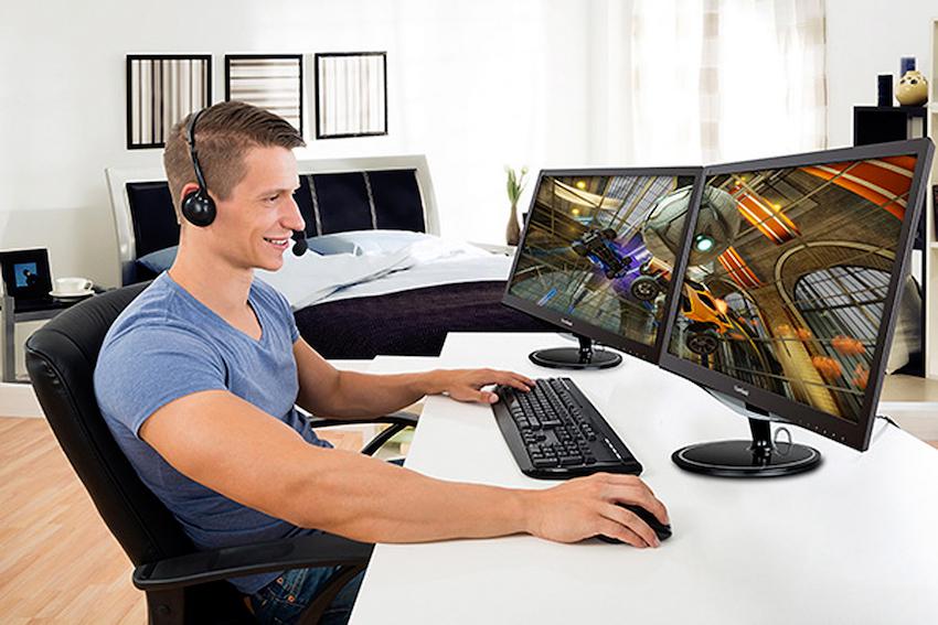 Ob vom PC oder einer Spielkonsole: Auf dem ViewSonic VX2457-hd macht Gaming ganz großen Spaß; egal ob zu zweit oder allein.