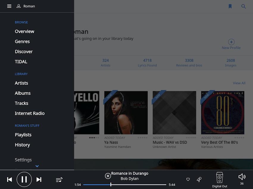 Mit einem kurzen Klick auf das Einstellungssymbol lässt sich die eigene Musikbibliothek nach diversen Kriterien sortieren.