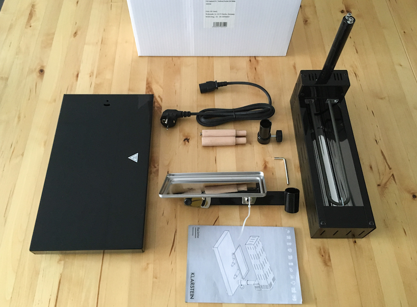 Alle benötigten Teile finden sich im Lieferumfang - selbst einen passenden Inbus-Schlüssel legt Klarstein bei.