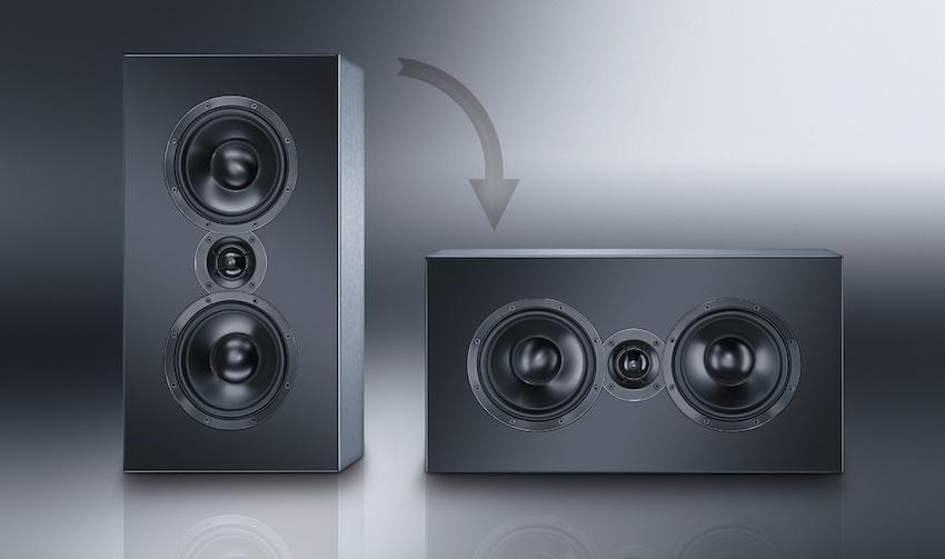 Der Cinema Ultra LCR 100-THX kann sowohl stehend wie liegend betrieben werden und erfüllt dennoch die strengen THX-Auflagen.