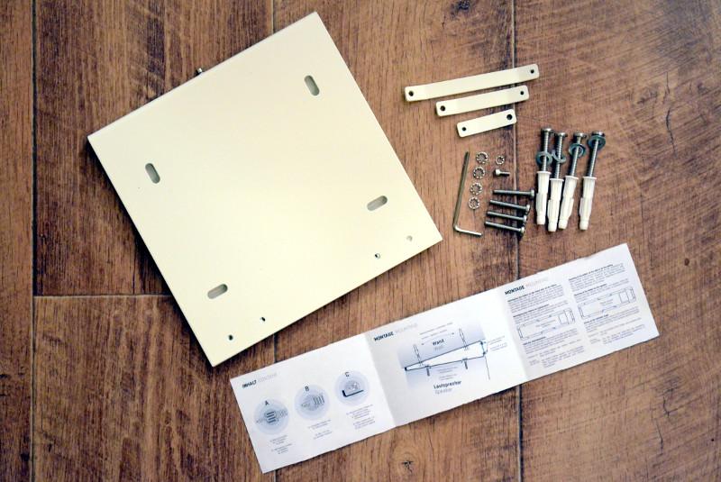 Die optionale und ebenfalls sehr flexible Wandhalterung WH 25 ermöglicht eine Wand- oder Deckenmontage auch unter schwierigen Bedingungen.