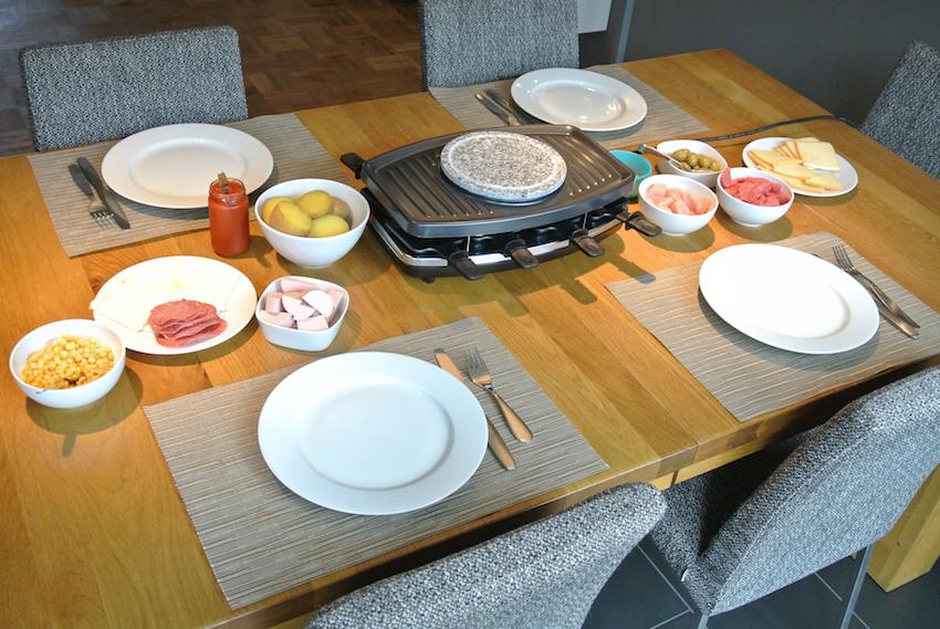Nur Raclette-Fans am Tisch? In diesem Fall lässt sich die gesamte Grillfläche nutzen.