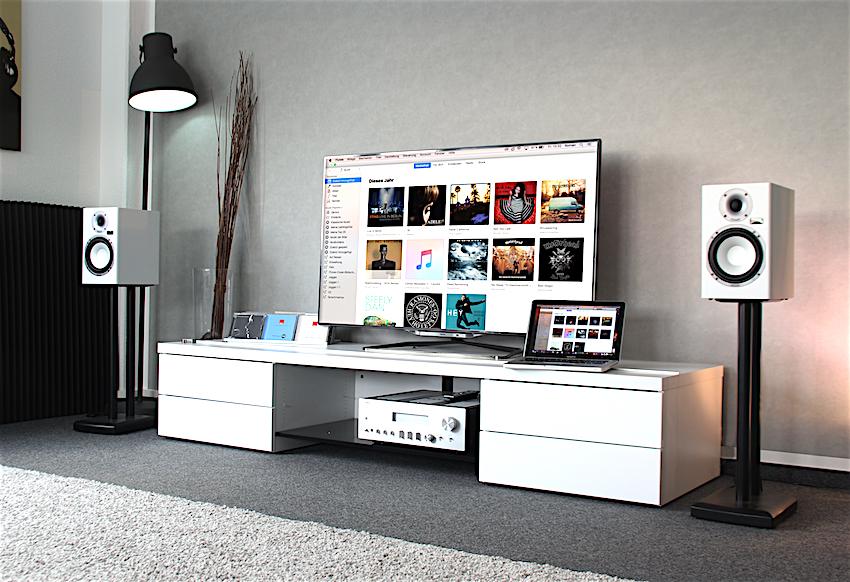 Egal ob Smartphone, Steamer, Laptop, Fernseher oder CD-Player - mit dem Magnasphere-Hub verbunden, wird jedes Wiedergabegerät zur HiFi-Quelle!