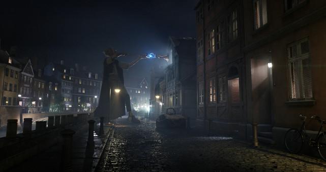 Eines Nachts entdeckt sie dabei einen Riesen vor ihrem Fenster. (© Constantin Film)