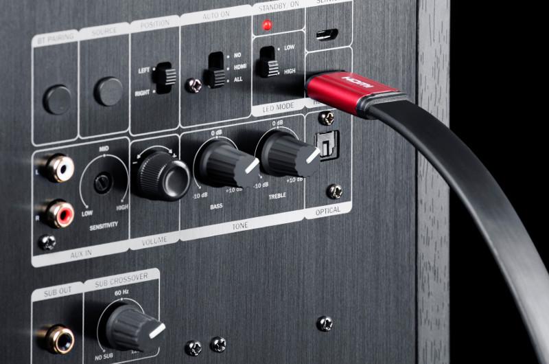 Ein HDMI-Anschluss am Standlautsprecher? Jetzt ja!