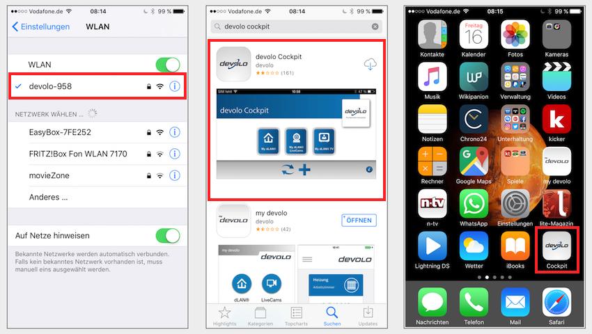 Über die Devolo Cockpit-App lassen sich weitere Funktionen nutzen.