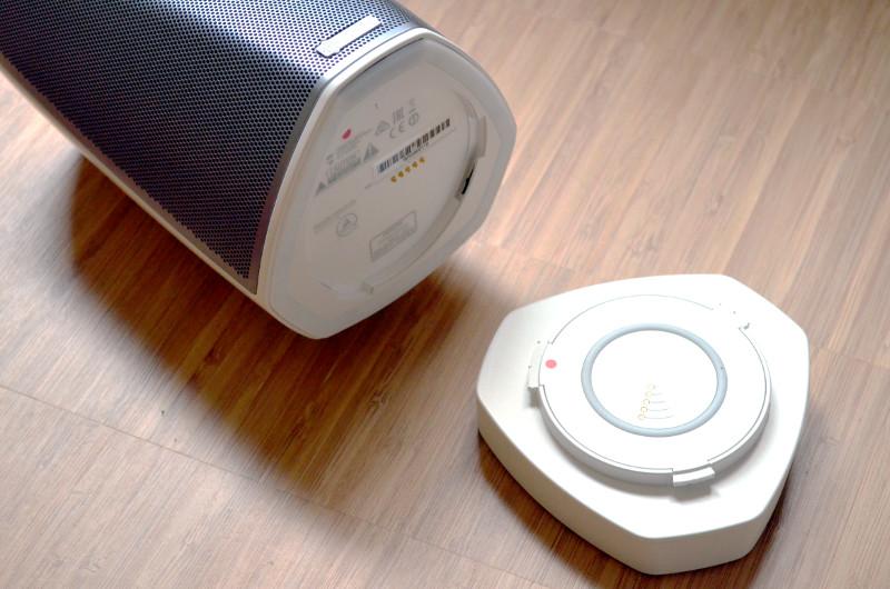 Mit dem GoPack macht man den Heos 1 mit zwei Handgriffen zum portablen Bluetooth-Lautsprecher.