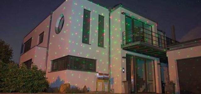 Pearl Lunartec Laser-Projektor, bewegter Sternen-Regen-Lichteffekt