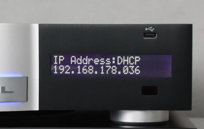 Moderne Zeiten: Der Krell Vanguard lässt sich in das heimische Netzwerk integrieren – die IP-Adresse sucht und findet der Amp selbständig.
