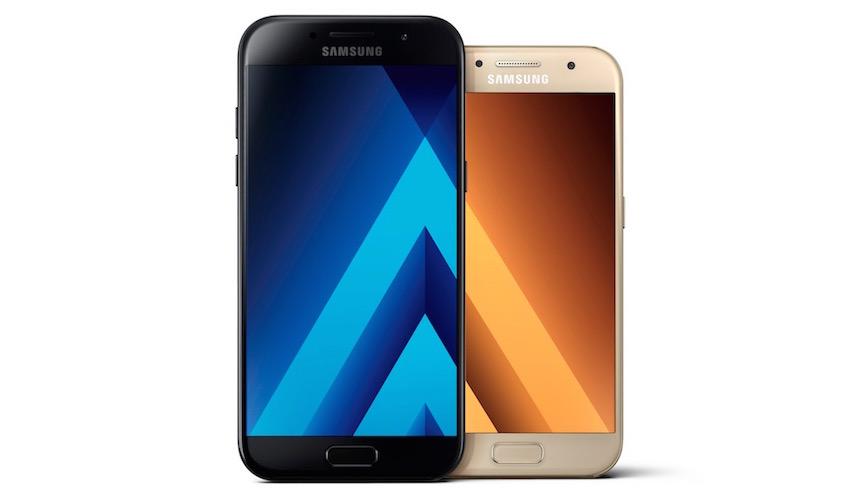 Das Galaxy A5 (2017) und das Galaxy A3 (2017) bieten als neue Modelle der beliebten Galaxy A-Serie Premiumgehäuse aus Glas und Metall sowie hochwertige Kameratechnologie
