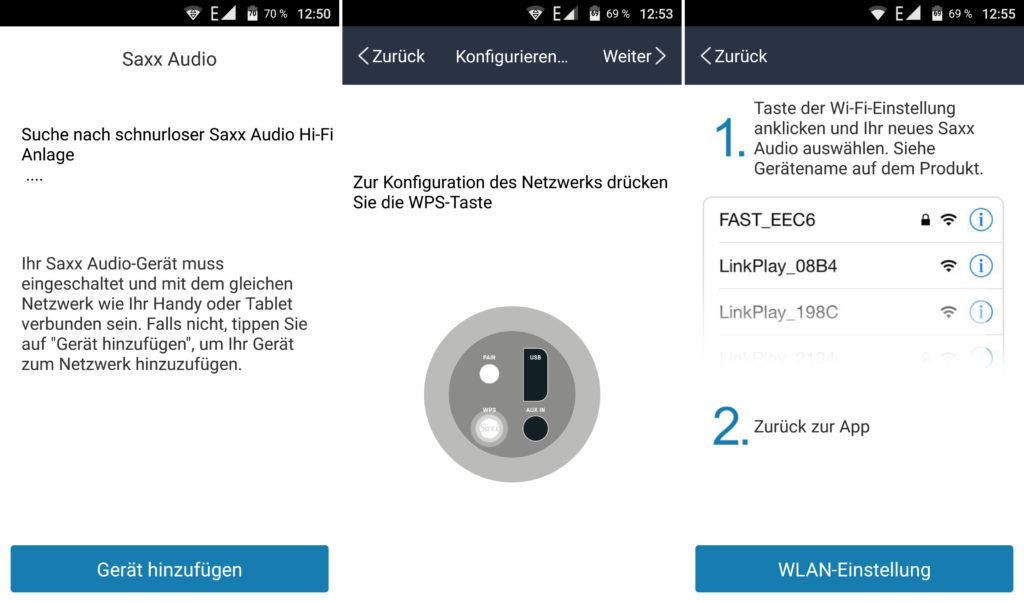 Mit der kostenfreien Smartphone-App werden die airSound-Lautsprecher ins WLAN eingebunden.