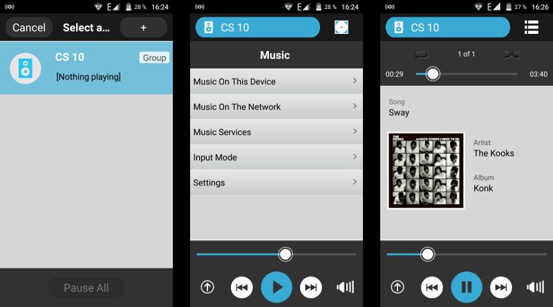 Auch die Musik-Wiedergabe via App erfordert keine Multiroom-Erfahrungen.