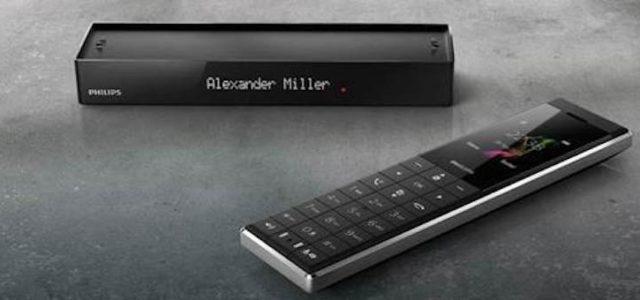 Philips Monolith Designtelefon: Modernes Design trifft clevere Features