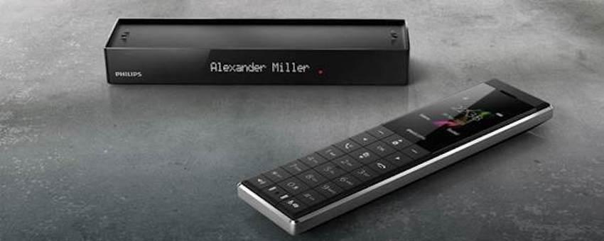 philips monolith designtelefon modernes design trifft. Black Bedroom Furniture Sets. Home Design Ideas